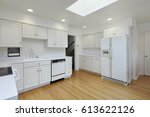 kitchen in suburban home with...   Shutterstock . vector #613622126