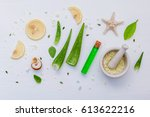 homemade skin care with natural ... | Shutterstock . vector #613622216
