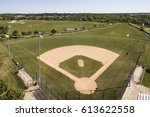 aerial view of a baseball... | Shutterstock . vector #613622558