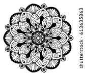 mandalas for coloring book....   Shutterstock .eps vector #613635863