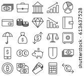 finance and money vector lines... | Shutterstock .eps vector #613637528