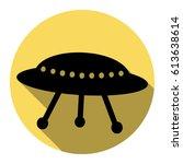 ufo simple sign. vector. flat...   Shutterstock .eps vector #613638614