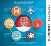 travel info graphics design... | Shutterstock .eps vector #613641014