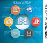 camera info graphics design... | Shutterstock .eps vector #613641143