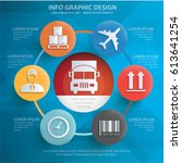 logistic info graphics design... | Shutterstock .eps vector #613641254