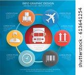 logistic info graphics design... | Shutterstock .eps vector #613641254