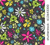 vector seamless pattern with... | Shutterstock .eps vector #613643300