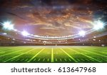 american football stadium 3d. | Shutterstock . vector #613647968