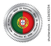 made in portugal silver badge... | Shutterstock .eps vector #613650254