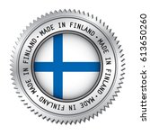 made in finland silver badge... | Shutterstock .eps vector #613650260