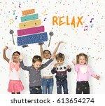 children early education... | Shutterstock . vector #613654274