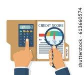 credit score  gauge. study... | Shutterstock .eps vector #613660574