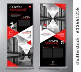 business roll up. standee... | Shutterstock .eps vector #613661258