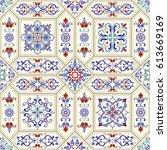 seamless ceramic tile with... | Shutterstock .eps vector #613669169