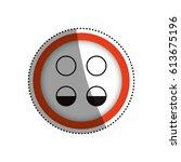sign lights low symbol | Shutterstock .eps vector #613675196