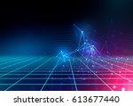 blue geometric abstract...   Shutterstock . vector #613677440