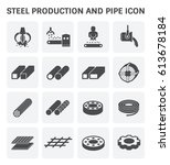 vector icon of steel pipe and...