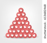 like icons. pile of like icons | Shutterstock .eps vector #613682468