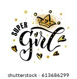 vector illustration of super... | Shutterstock .eps vector #613686299
