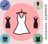 party fashion dress icon or... | Shutterstock .eps vector #613690370