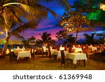Outdoor Restaurant At The Beach ...