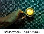 fire the cancel from lighter | Shutterstock . vector #613707308