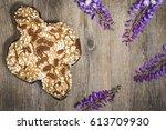 easter  colomba italian cake ...   Shutterstock . vector #613709930