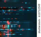 glitch. error signal tv ... | Shutterstock .eps vector #613712549