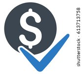accept payment glyph pictograph.... | Shutterstock . vector #613713758