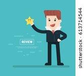 cartoon character  businessman... | Shutterstock .eps vector #613714544
