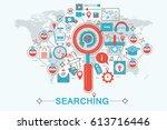 modern flat thin line design... | Shutterstock . vector #613716446
