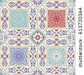 seamless ceramic tile with...   Shutterstock .eps vector #613720364