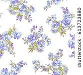flower pattern illustration | Shutterstock .eps vector #613723880