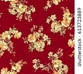 flower pattern illustration | Shutterstock .eps vector #613723889