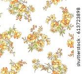 flower pattern illustration | Shutterstock .eps vector #613723898