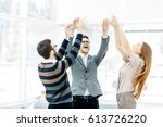 concept of victory   the... | Shutterstock . vector #613726220