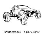 offroad buggy vector sketch   Shutterstock .eps vector #613726340