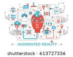 modern flat thin line design... | Shutterstock . vector #613727336