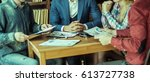 business team discussing a...   Shutterstock . vector #613727738
