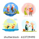 vector collection of old cute...   Shutterstock .eps vector #613729490