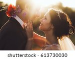 sunshine portrait of happy... | Shutterstock . vector #613730030