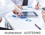 business team with digital...   Shutterstock . vector #613732460