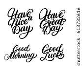 Set Of Good Morning  Good Luck...