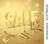 vector luxury sale banner with... | Shutterstock .eps vector #613746416