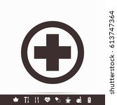 medical cross icon | Shutterstock . vector #613747364