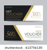 gift voucher template promotion ... | Shutterstock .eps vector #613756130