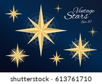 beautiful vintage stars... | Shutterstock .eps vector #613761710