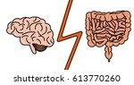 gut vs brain concept. stock...   Shutterstock .eps vector #613770260