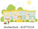 kindergarten | Shutterstock .eps vector #613772114