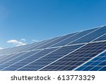 solar power panels against a... | Shutterstock . vector #613773329